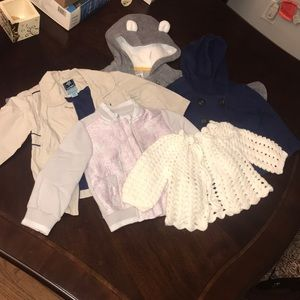 Other - 5pc lot toddler girls sweaters/coats 12-18 months